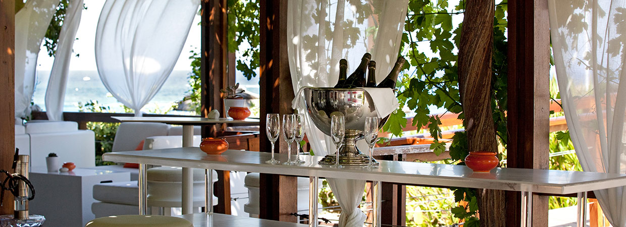 Enjoy a glass of champagne with amazing view of Mediterranean sea
